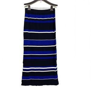 Club Monaco Stripe Blue/White/Black Maxi Skirt